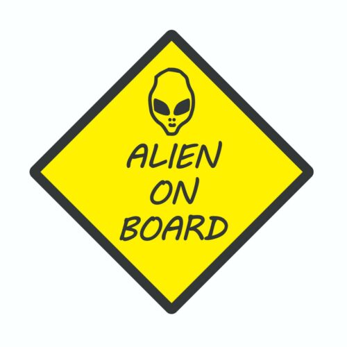 Alien On Board : Decal&Sticker Combo, English, LOW PRICE, FREE SHIPPING