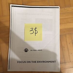 Focus on the environment activity textbook