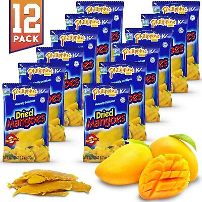 Philippine Brand Dried Mangoes Fruit Snacks {12 PACK} All Naturally Gluten Fr...
