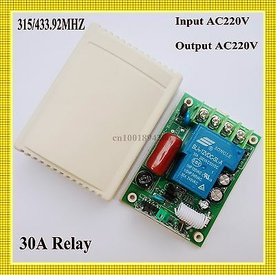 RF Receiver 30A Remote Switch RX Lamp LED Bulb Smart Home ASK Radio Receiver