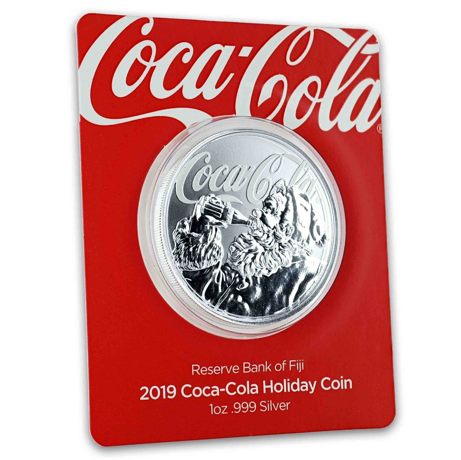 Купить 2019 1oz .999 Silver Coca-Cola® Holiday Coin - Limited Mintage Collectible #A465