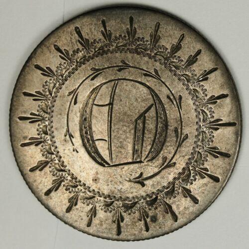 "1854 Seated Liberty Half.  Love Token.  A.U.  ""O""  136144"