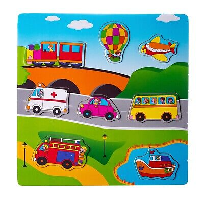 Eliiti Wooden Peg Puzzles for Toddlers Boys Kids 2 to 4 Year