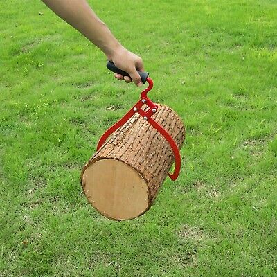 Timber Tongs With Handle 12 Inch Steel Log Lifting Carrying Outdoor Logging