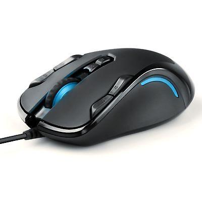 3000 Schwarz, Usb (Maus USB, Links/Rechts Händer, Gaming, 9 Tasten, 1000-1500-3000dpi)