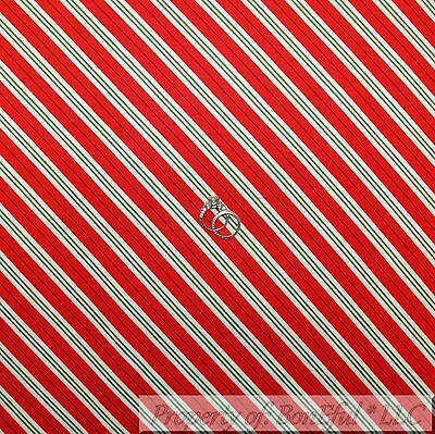 Green Cotton Candy (BonEful Fabric Cotton Quilt Red White Green Stripe Candy Cane Xmas Holiday)