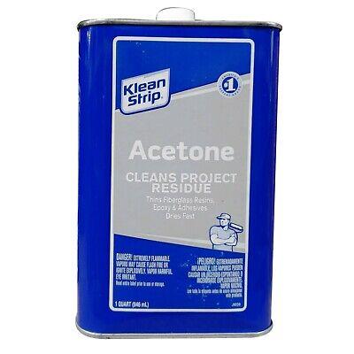 1 Qt Klean-Strip Acetone Cleans Project Residue & Adhesive QAC18 - Thins Resins