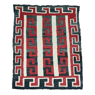 Navajo Floor Rug Crystal; negative; old repairs; highly visual.