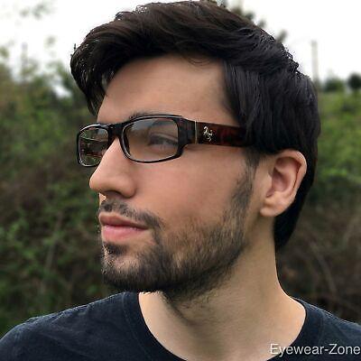 Designer Fashion Modern Stylish Mens Tortoise Rectangle Clear Lens Glasses Frame ()