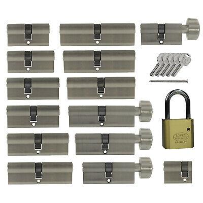 BASI Profil-Halbzylinder Schlie/ß-Zylinder T/ür-Zylinder T/ür-Schloss Zylinder-Schloss gleichschlie/ßend