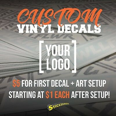 Completely Custom Die Cut Vinyl Decal Sticker Car Logo Business Wall Image