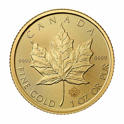 1oz Gold Canadian Maple Leaf (Random Date) BU