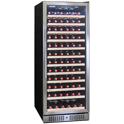 127 Bottles Single Zone Touch Control Compressor Freestanding Wine Cooler Cellar