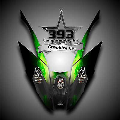 Arctic Cat ProClimb ProCross Hood Graphics Kit Wrap Reaper Green 2012 - 2015