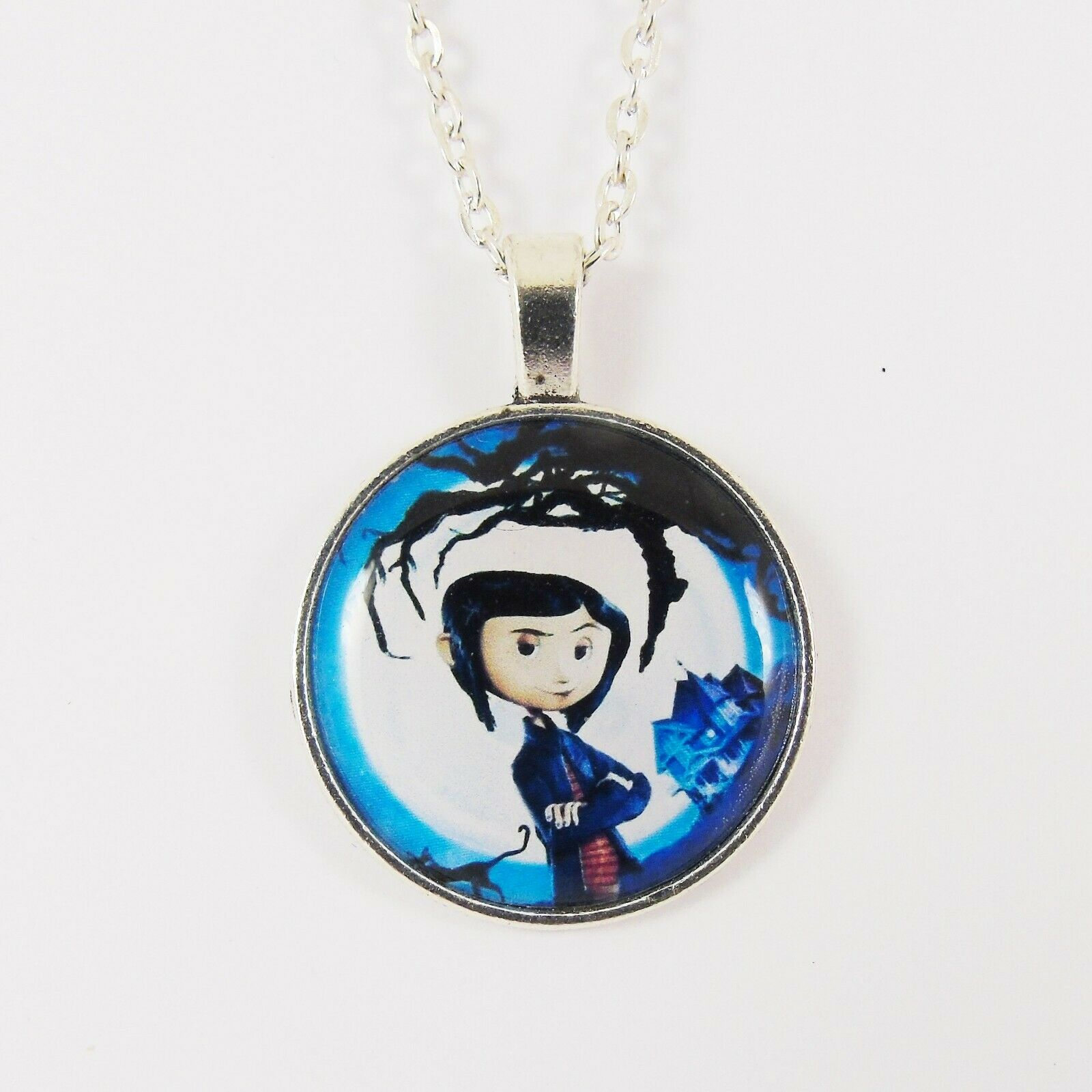 Coraline Necklace Resin Neil Gaiman Button Eyes Other Mother Ebay