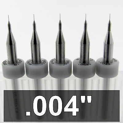 ".0135/"" .35mm #80 Carbide Drills /<Five Pieces/> 1//8/"" Shanks Wood Plastic Metal R"