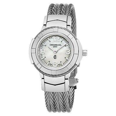 Celtic Womens Watch - Charriol Women's Celtic MOP Dial Stainless Steel Quartz Watch CE426S640001