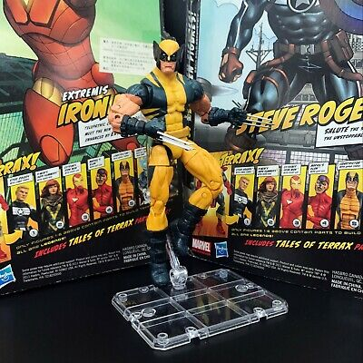 Marvel Legends Wolverine Logan Yellow Puck Series With Stand 6