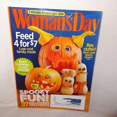 Woman's Day Magazine Spooky Halloween Fun Treats Family Meals October 2015 - Halloween Meals Spooky