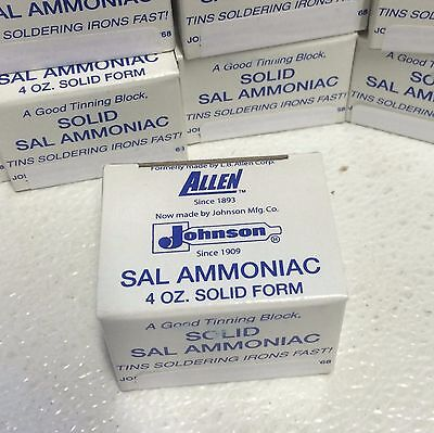 Small 4 oz BLOCK Sal Ammoniac Cleans & Tins Soldering Iron TIP ~Tips Last Longer