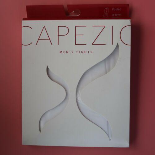 Capezio+Men%27s+White+Footed+Tights+NEW