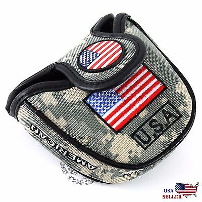 (HEAVY DUTY USA Military Mallet Putter Cover For Scotty Cameron Odyssey 2ball)