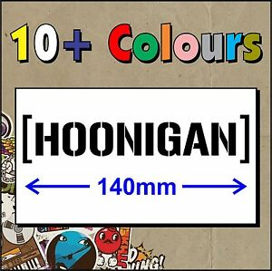 HOONIGAN KEN BLOCK STICKER DECAL JDM TURBO DRIFT - Made in Australia - Small