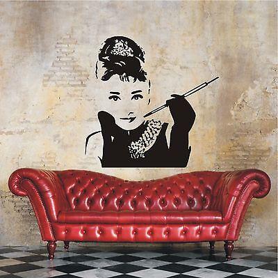 119 Wand (WANDTATTOO Wandaufkleber  Audrey Filmstar Style Wohnzimmer Flur Motiv 119 XL)