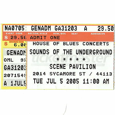 LAMB OF GOD & OPETH Concert Ticket Stub CLEVELAND OHIO 7/5/05 SCENE PAVILION