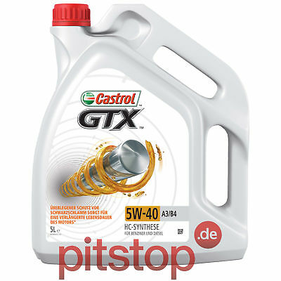 5 LITER CASTROL GTX 5W-40 A3/B4 MOTOR-ÖL VW 50200 50500 BMW Longlife-01 MB 229.3