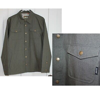 Howler Brothers Jacket Small NEW Roadrunner Shell Lined Snap Green 1518 Bros