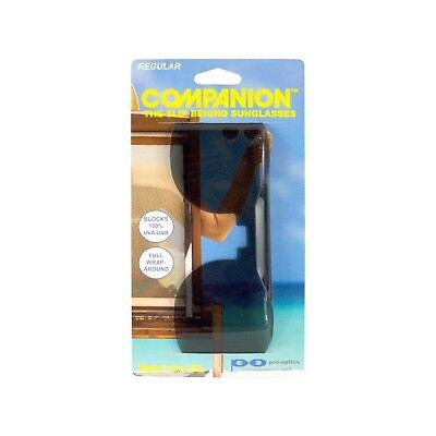 Pro-Optics Companion Sun Shield Slip Behind Sunglasses (Non-polarized) Eye (Sun Wearing Shades)