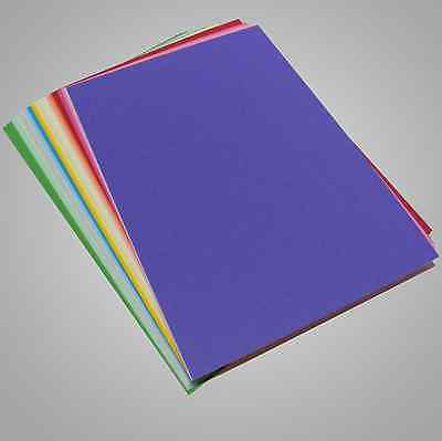 New Craft Card Mixed Colour - 160gsm A4 Multi Coloured 40 Sheets Pack  Free Post