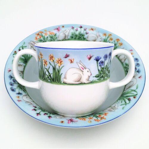 "Tiffany & Co 2 Piece Infant Feeding Set ""Tiffany Meadows"" with Bunny Rabbit"