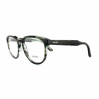 Prada Glasses Frames PR18SV UEP1O1 Striped Grey Green Mens (Prada Men Glasses)