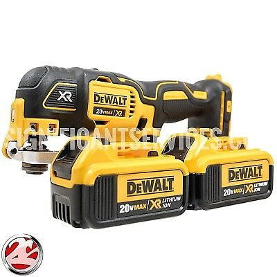 DeWalt DCS355B 20V MAX Cordless Brushless Oscillating Multi Tool 4.0Ah Batteries