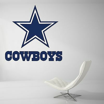 Dallas Cowboys NFL Football Wall Decal Vinyl Decor Room Car Sticker Art J39](Dallas Cowboys Room Decor)