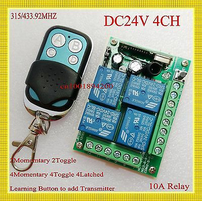 Dc 24V 4Ch Relay Remote Switch 10A Receiver Transmitter No Com Nc Learning Ask