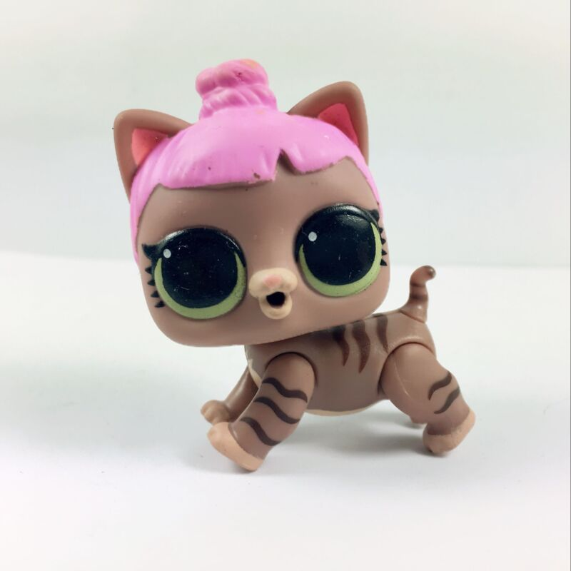 LOL Surprise Doll Pets Eye Spy Series 4 Funky Kat Striped Brown Kitty Green