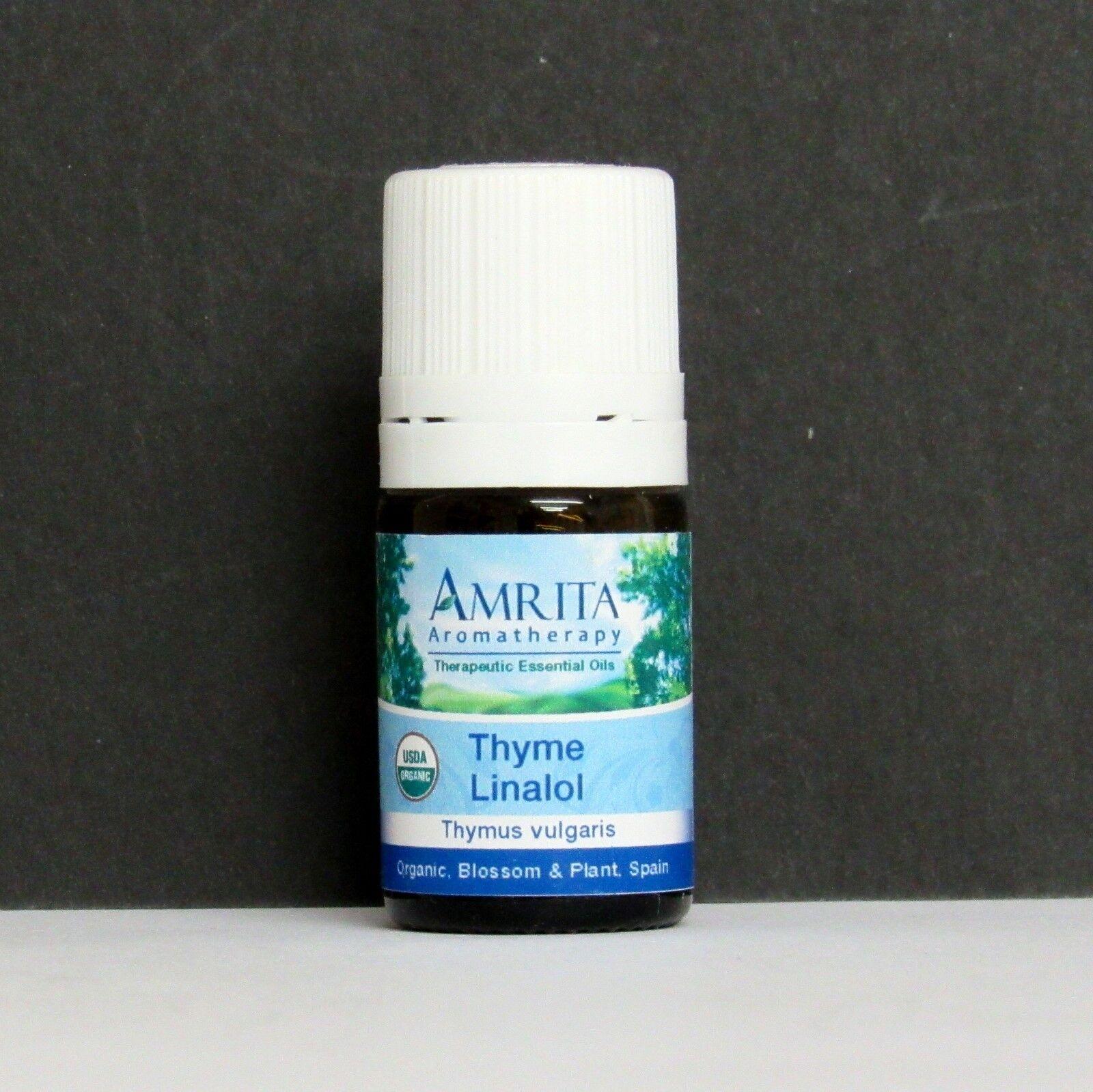 CLOSEOUT Amrita Essential Oil Thyme Linalol 5 ml Organic Blo
