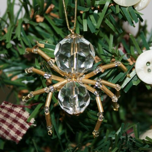 The Legend of the Christmas Spider Beading Ornament Kit. Makes 3 Crystal Gold