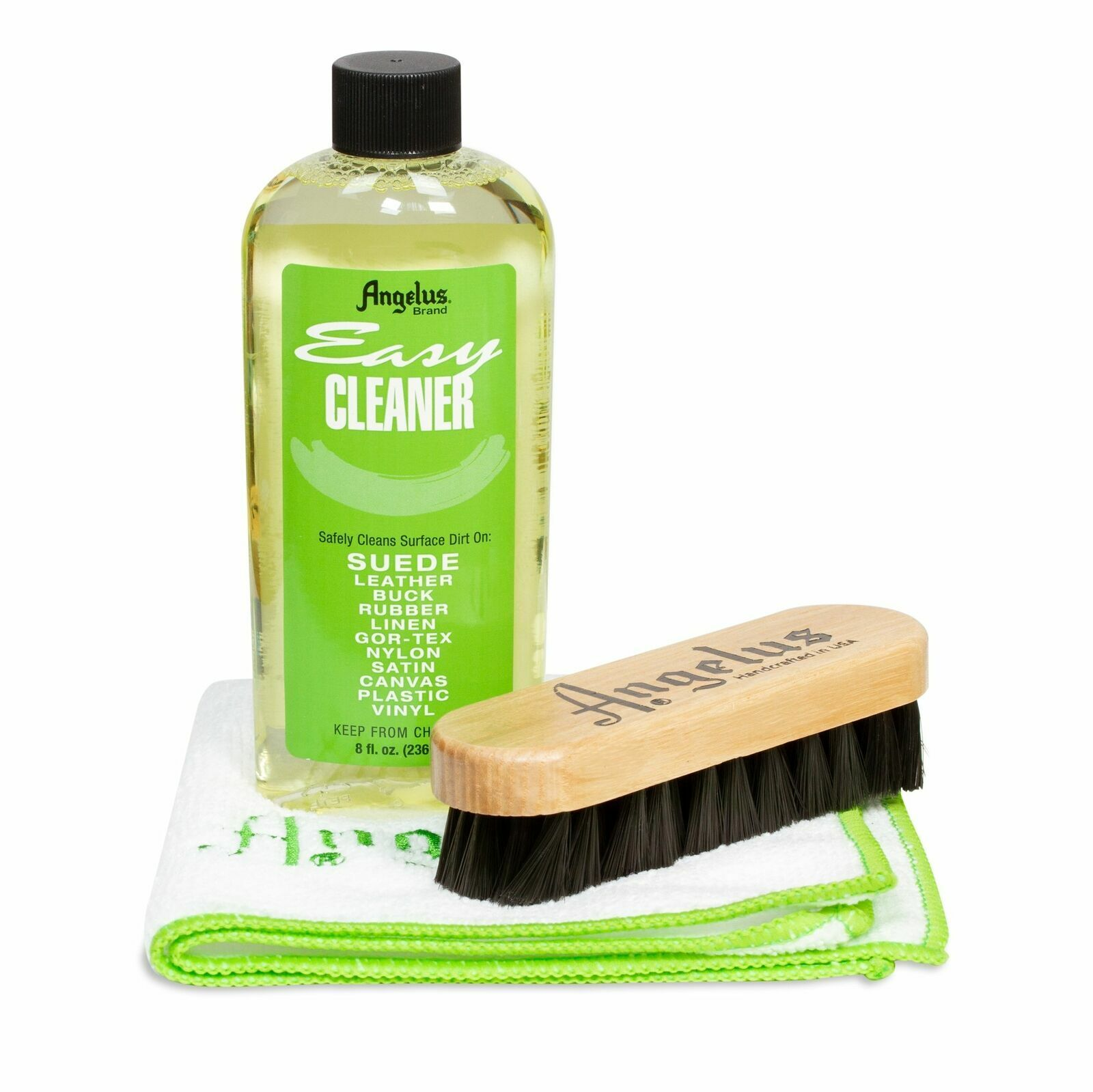 Angelus Easy Cleaner Kit Set: Leather, Suede, Rubber, Nubuck Clothing & Shoe Care