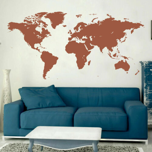 Wall Decal Sticker Design World Travel Map