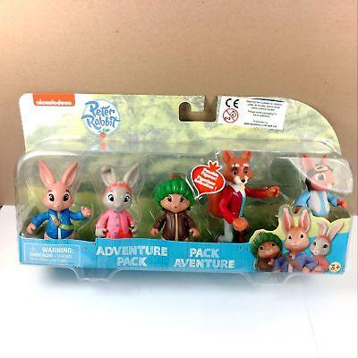 "New Peter Rabbit 5 Dolls Adventure Pack Multi Figure Nickelodeon 3"" toy Nick Jr"