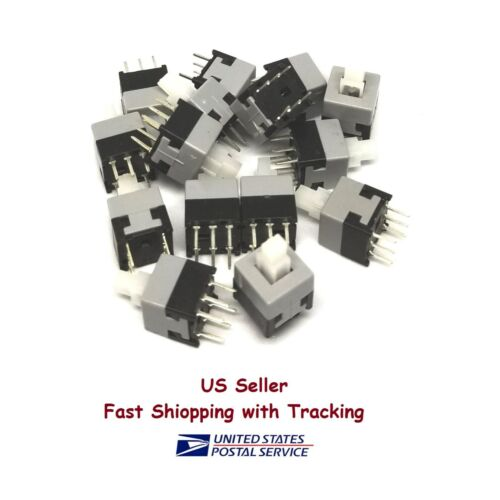 15 Pcs 8.5x8.5mm Latching Push Button On-Off Switch 6 Pin - US Seller, Fast Ship