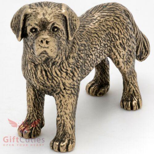Bronze Figurine of St. Saint Bernard dog