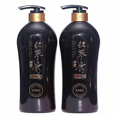 Somang Korean Red Ginseng & Herbal Scalp Cleanser Shampoo Set 730ml x 2