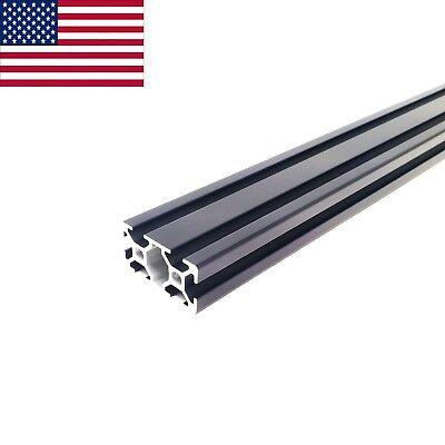 Black Zyltech 2040 20mmx40mm T-slot Aluminum Extrusion - 600mm Cnc 3d Printer