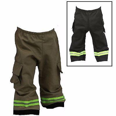 Baby Firefighter Costume (FIREFIGHTER Costume Baby Pants Look Like Turnout Bunker Gear (One)