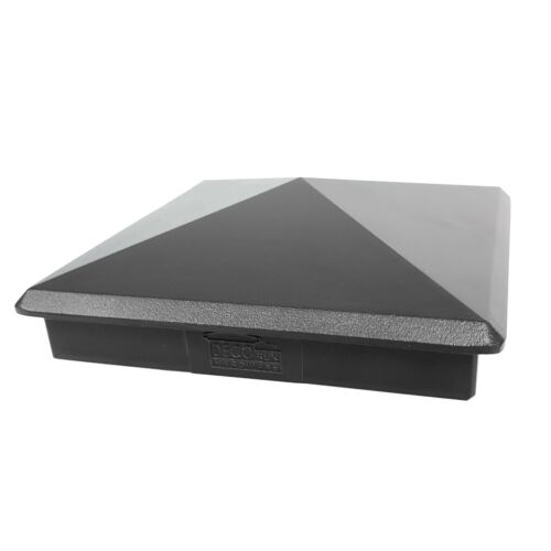 "True 6"" x 6"" Heavy Duty Aluminium Pyramid Post Cap for Wood Posts - Black"